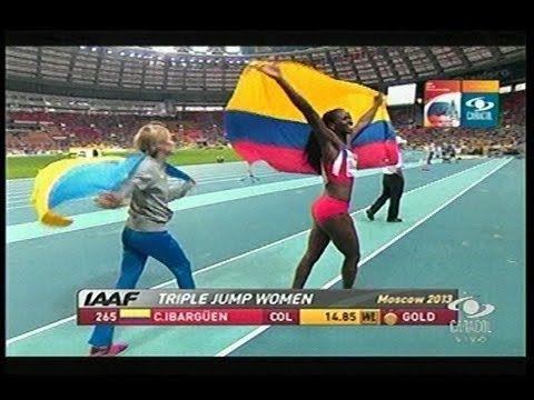 Catherine Ibagrguen, Medalla de Oro salto triple de Atletismo