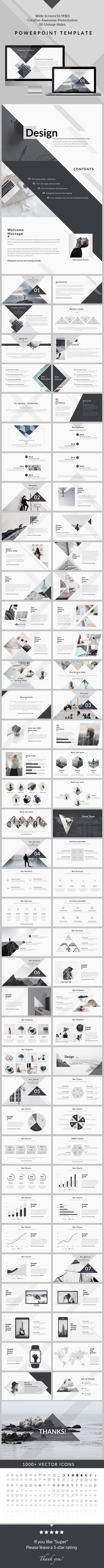 Design - Clean & Creative PowerPoint Presentation Template
