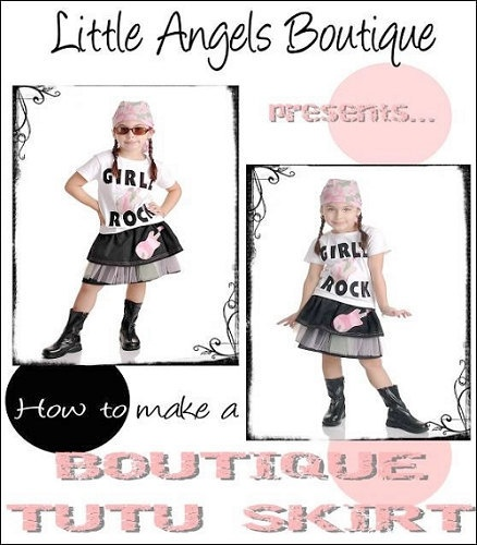How to Make a Boutique Tutu Skirt Tutorial by littleangelsboutique, $10.00