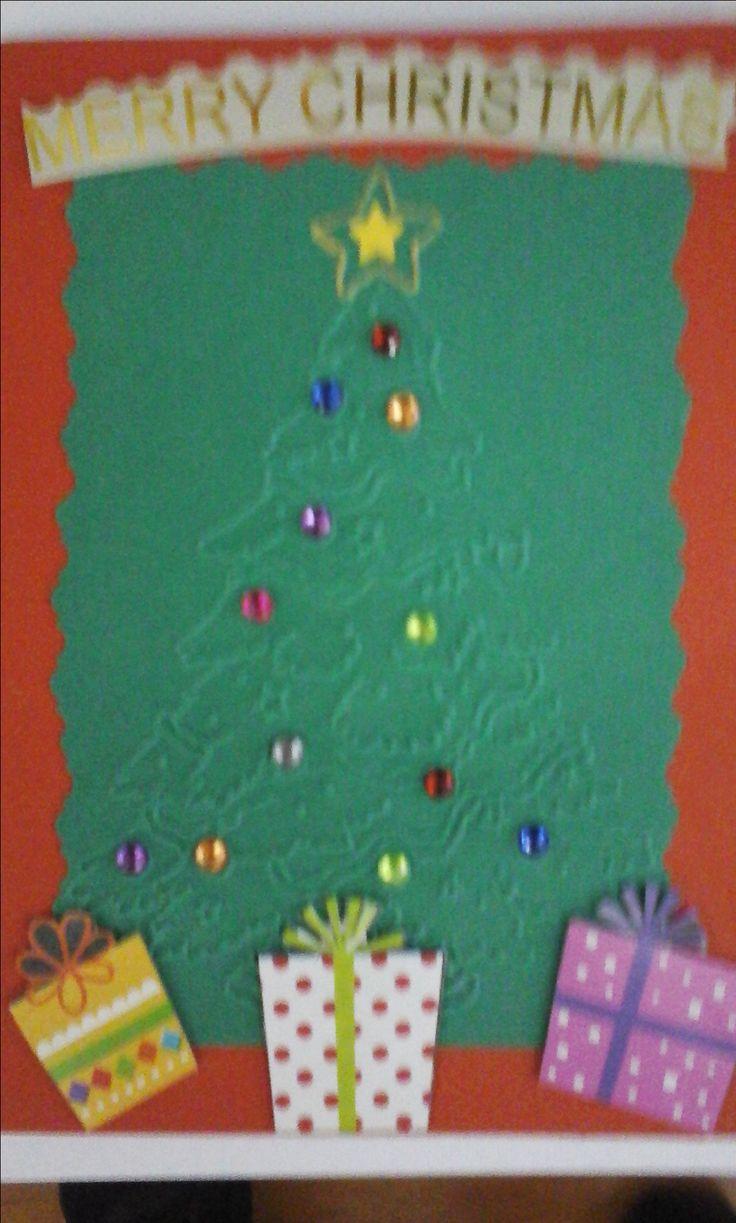 Tarjeta árbol regalos