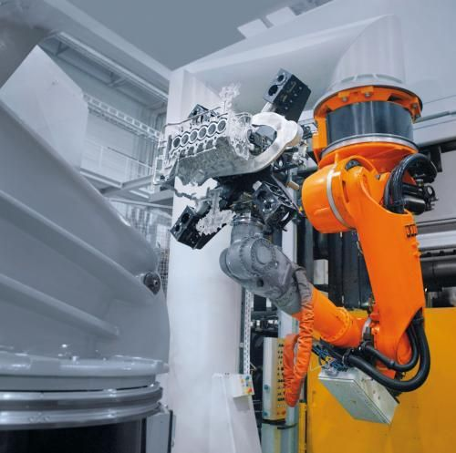 Smoothly moving industrial robots save energy.