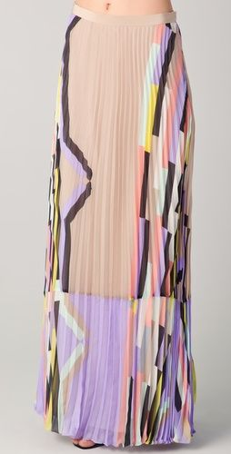 Tibi. Arizona Print Pleated Maxi Skirt. $495