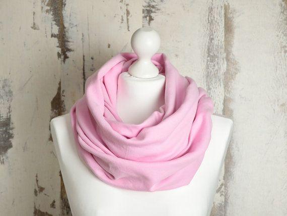 #scarf #PinkScarf #snood #SpringSnood #InfinityScarf #CottonSnood #CircleScarf #ScarfSale #RawEdgesScarf #DoubleLoop