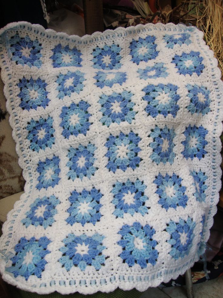 Manta crochet bebe