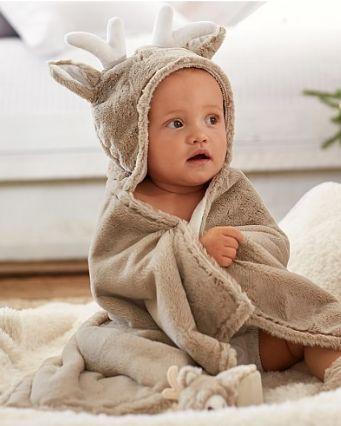 darling plush reindeer towel