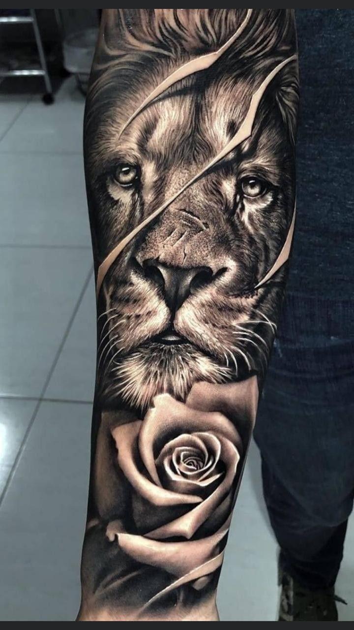 Pin By Nene Tatoo On Trampo Do Dia Lion Tattoo Sleeves Lion Head Tattoos Lion Forearm Tattoos