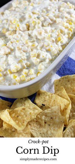 Corn Dip | Simple Recipes | Crockpot | Gameday