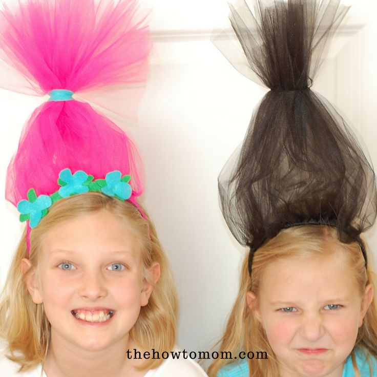 Hair Up! Make a Poppy headband or Branch headband for your little troll! Its a super simple kids craft.