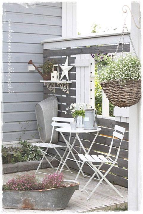 näkösuoja, terassi, ikkunaluukut, diy, puutarha, harsokukka, sinkkisoikko, sinkkipalju