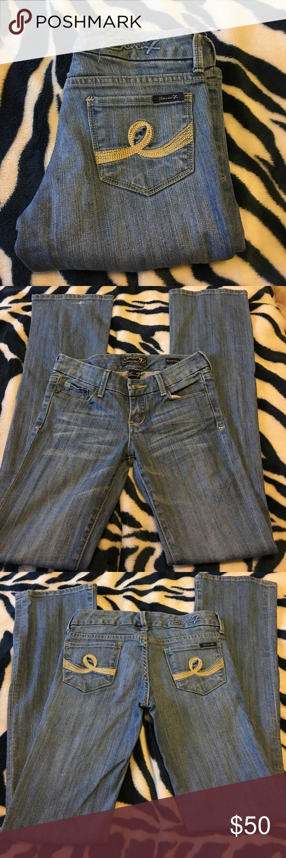 🔥SALE🔥seven jeans The seven jeans are very lightly used, still perfect in color, very comfortable, perfect for casual or dressy.  Offers are welcomed Seven7 Jeans Boot Cut