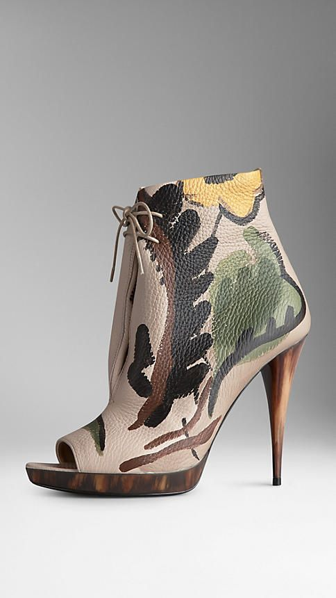Burberry hand-painted leather ankle boots (worn here http://chicityfashion.com/burberry-brit/)