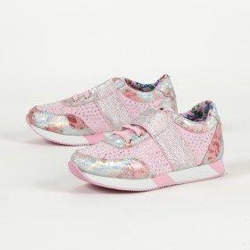 Ροζ αθλητικά παπούτσια με στρας