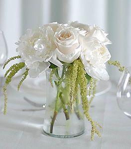 White Rose & Peony Centerpiece