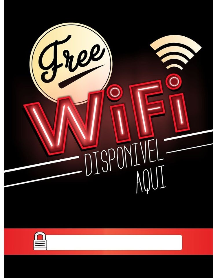 Poster Free Wifi Neon - Tipici Posters Online