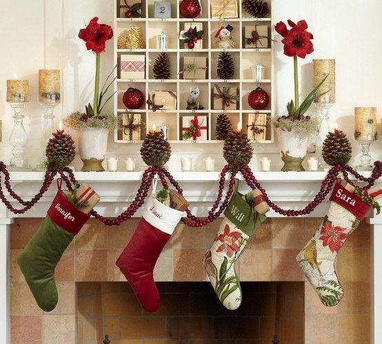 christmas: Christmas Decor Ideas, Fireplaces, Decorating Ideas, Advent Calendar, Shadows Boxes, Holiday Decor, Christmas Mantles, Pottery Barns, Christmas Mantels