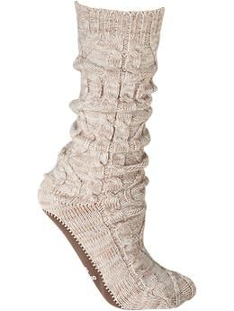 Women's Cable-Knit Slipper Socks | Old Navy these look perfect for the hospital after the baby is born!