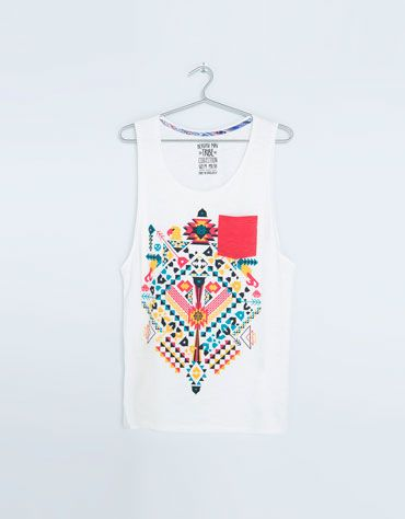 Bershka Japan - Ethnic print sleeveless top