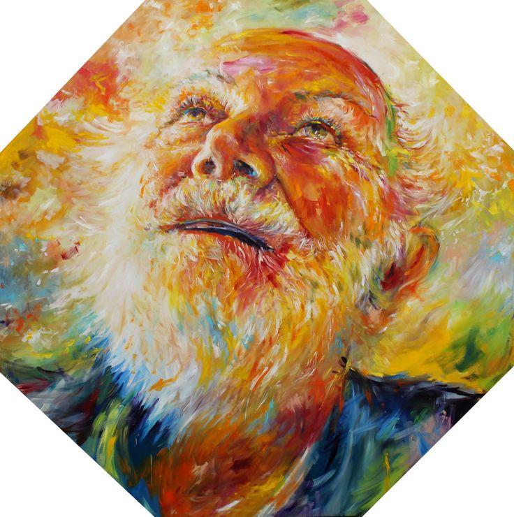 Mario Vespasiani: Senza titolo - 180x180 cm, olio su tela, 2012