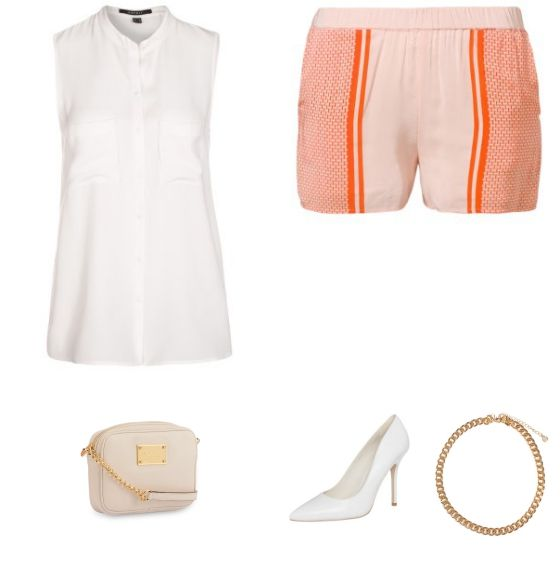 Oranje Short Outfit - #SecondFemale #ESPRITCollection #Buffalo #Pieces #MichaelKors