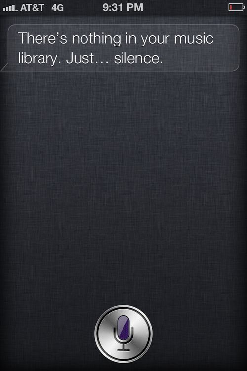 SILENCE IN THE LIBRARY.  SIRI KNOWS.