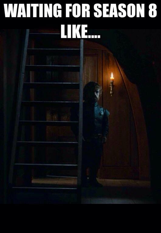 Imgur, game of thrones funny humour meme, season 7, Season 8, Tyrion Lannister, Peter Dinklage, hiatus