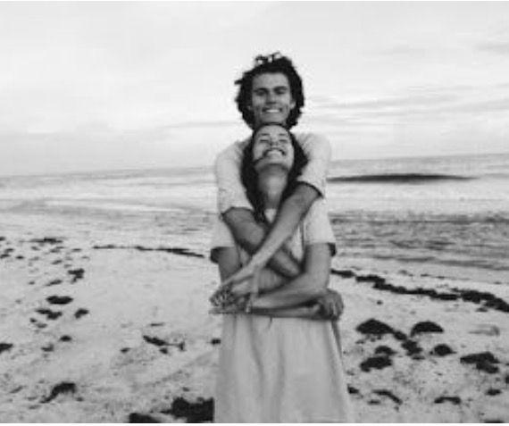 John Luke and Mary Kate at the beach