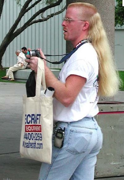 Well this is special: Camera Straps, Mullets, Parties, Long Hair, This Men, Funny, Humor, Jeans Shorts, Boyfriends