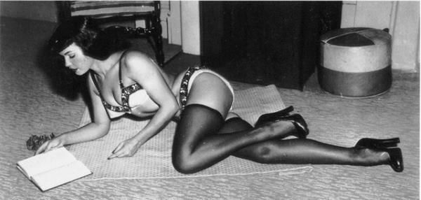 Betty Page reads.