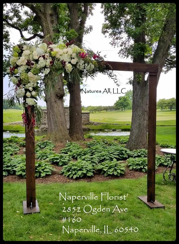 Wedding Arch Arbor Rustic Complete Kit Indoors Or Outdoors