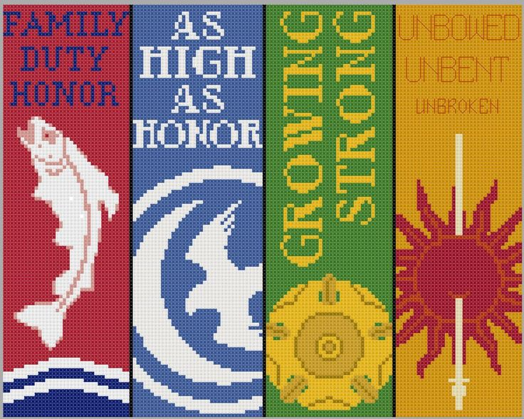 Game of Thrones Bookmarks- Cross Stitch Patterns 2 by *black-lupin on deviantART