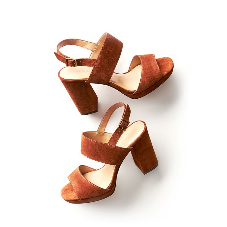 These chic suede heels feel right at home on the West Coast. Shop them at Banana Republic. #ad