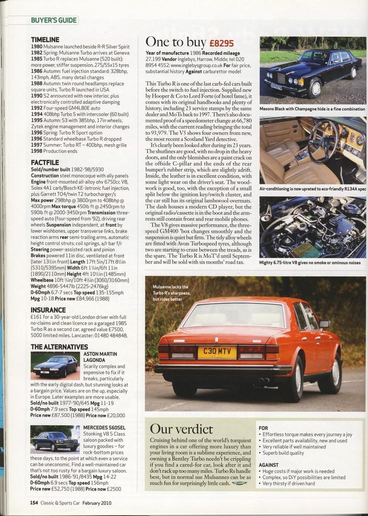 2010 Classic & Sports Car | Bentleys Collections | Pinterest ...