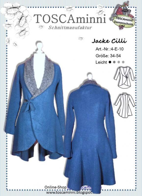 Sewing pattern for women's Jacket. German Language  Schnittmuster Damenjacke Cilli Gr. 34-54 14.50 EUR