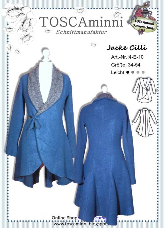 Sewing pattern for women's Jacket. German Language  Schnittmuster Damenjacke Cilli Gr. 34-54 14.50 EUR