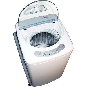 Haier 1 cu. ft. Portable Washing Machine, HLP21N.  This is the washer I really want.  It's great for little apartments, whether you have a washer hookup or not!