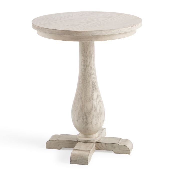 Bee Willow Home Pedestal Side Table In Light Natural Bed Bath
