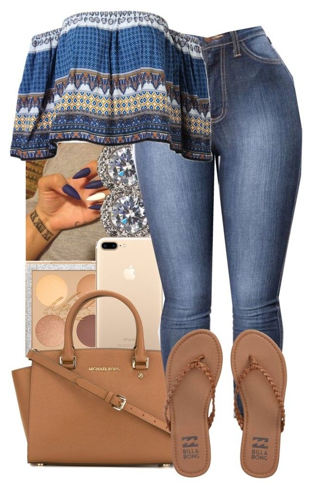 """""""Movies"""" by guwapshawty ❤ liked on Polyvore featuring Nadri, MICHAEL Michael Kors and Billabong"""