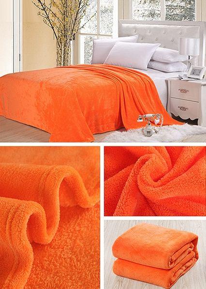 Klasyczny koc w kolorze ciemnopomarańczowym