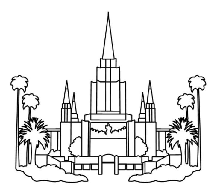 Lds coloring pages, Oakland temple, Lds temples