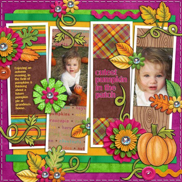 Digital scrapbook layout by Karen (Kate Hadfield Designs CT member)