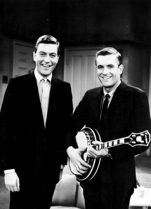 "Dick and Jerry Van Dyke on the sets of ""The Dick Van Dyke Show"", c. 1961"