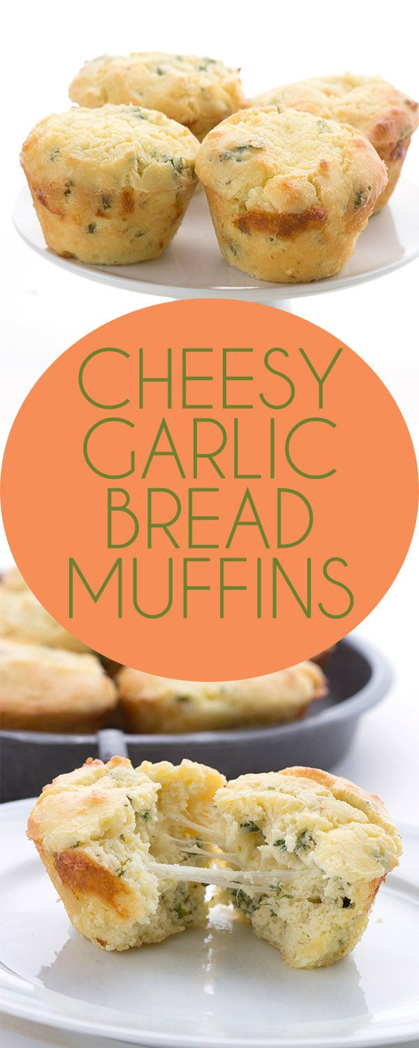 These low carb savory muffins are packed with gooey melted cheese and drizzled with garlic butter. Like cheesy garlic bread in muffin form. A delicious keto meal.  via @dreamaboutfood