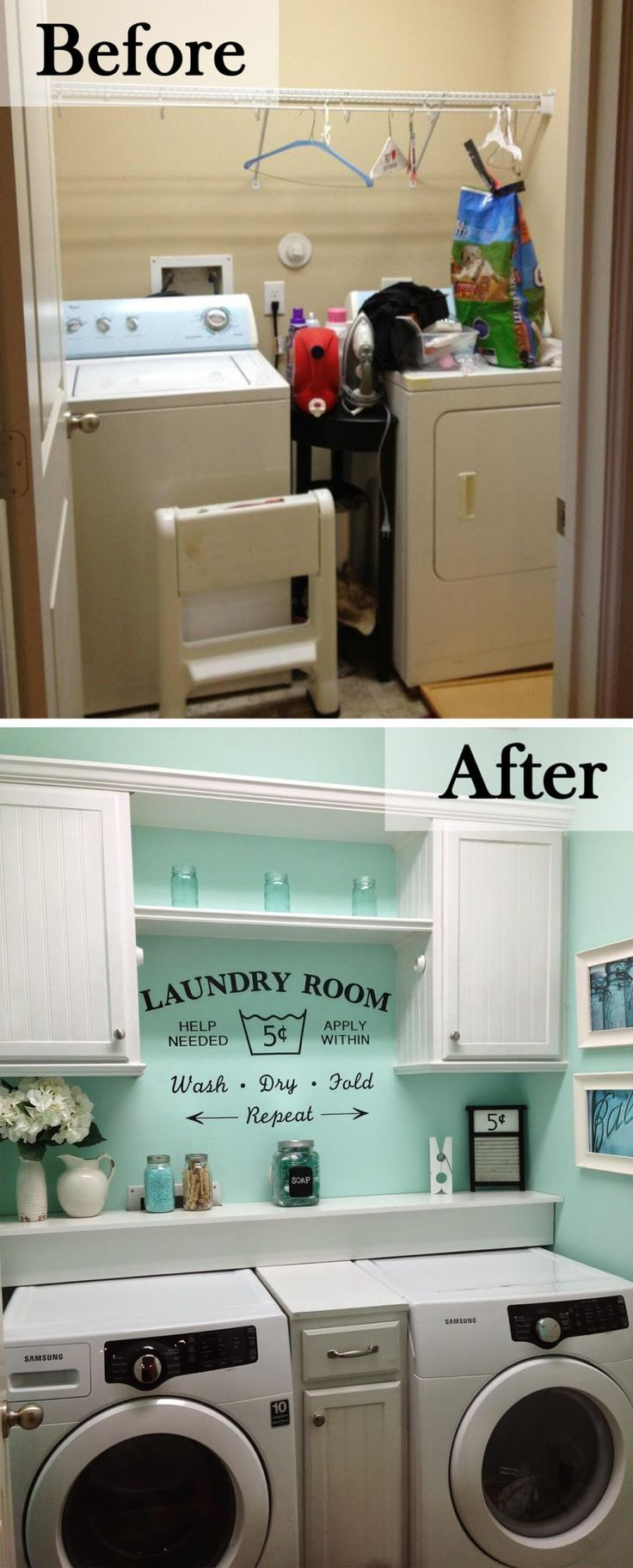 23 Before And After Budget Friendly Laundry Room Makeover Ideas That Will Amaze You Organization Tips Cabinets