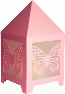 butterfly table lantern--------------------------------I think I'm in love with this shape from the Silhouette Online Store!