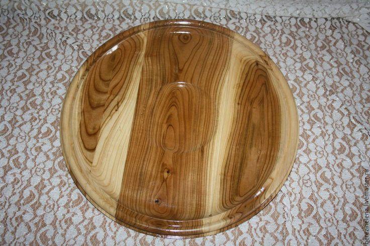 Купить Деревянное блюдо из жардели (абрикос) - бежевый, натуральное дерево, деревянное блюдо, Деревянная посуда