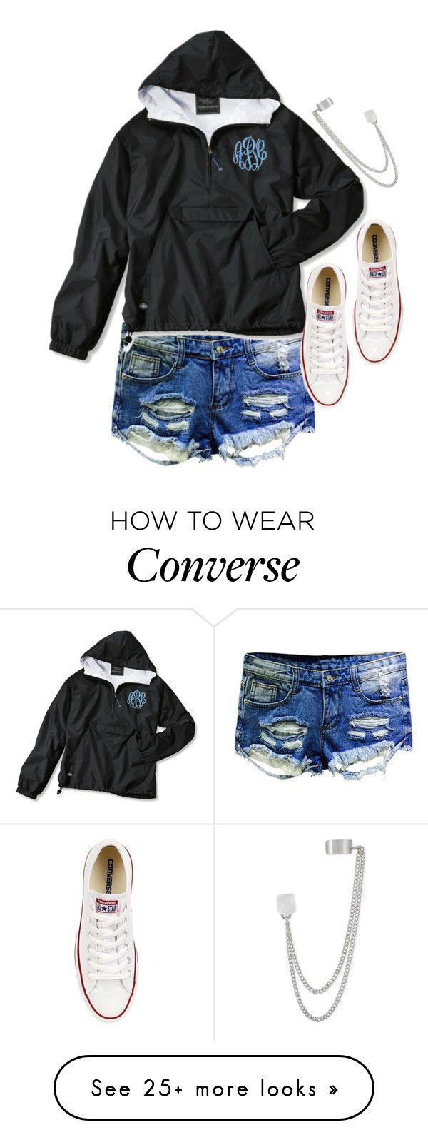 """Untitled #5359"" by ashley-r0se-xo on Polyvore featuring Converse and French Connection"
