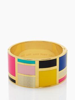 Mondrian love.: Enamels Bangles, Idioms Bangles, Spade Bangles, Bangles 103, Art, Adorable Accessories, Mondrian Kate Spade, Bangles Katespadeni, Fun Bangles
