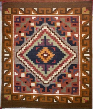 Burnwater Style Navajo Rug | Authentic Native American Rug | Contemporary Rugs For Sale @ $785.00 on foutztrade.com  Burntwater Style Navajo Rug by Lillian Joe  #NavajoRugs #NativeAmericanRug #NavajoCrafts #Artworks #NavajoWeavings #NativeAmericanWeavings #Traditional #NavajoCulture #NavajoIndianTribe #IndianAmerican #SouthWestern #Navajomade #Handcrafted #Handmade