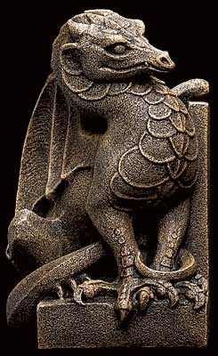 Stone Dragon Bookend by Windstone Editions