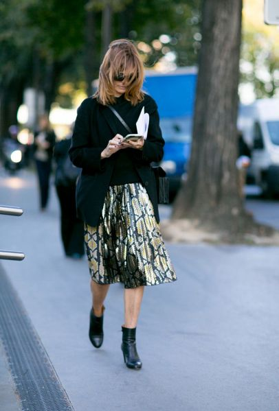 5 Essential Spring Skirts and How to Wear Them |StyleCaster -  Pleated  Yes, the Gucci effect marches ever onward—lucky for anyone who hasn't yet invested in a swingy, accordion-pleated midi skirt. For spring, we like them in a lighter hue, paired with crisp white sneakers and a bomber jacket.